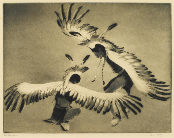 Gene Kloss (1903-1996); Taos Eagle Dancers;