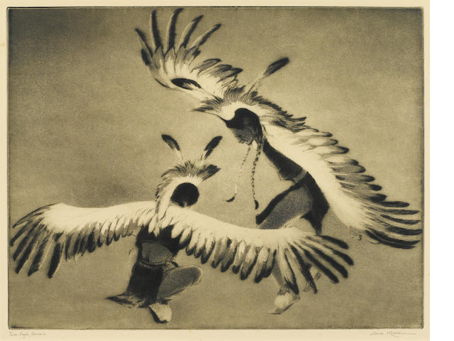 Gene Kloss Taos Eagle Dancers;