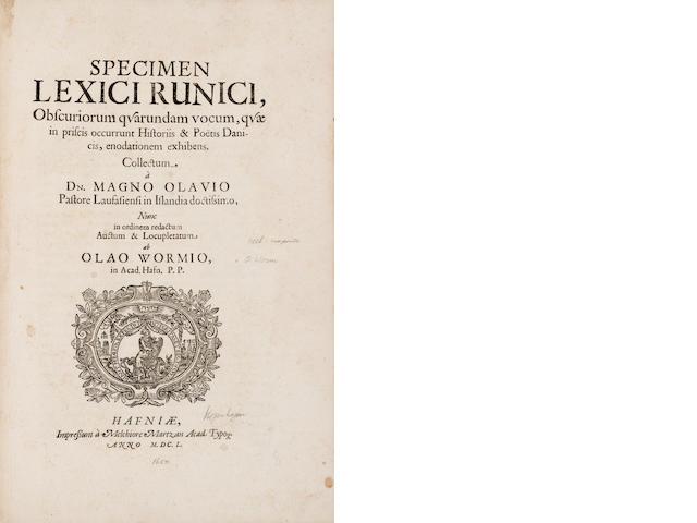 Worm. Specimin Lexici Runici