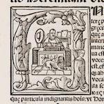 CALEPINO, AMBROGIO. 1435-1511. [Dictionarium.] Calepinus Ad librum. Mos est putidas.... Venice: Peter Liechtenstein, January 3, 1509.