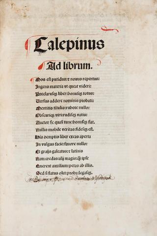 Calepinus. 1506.