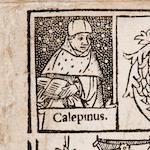 CALEPINUS, AMBROSIUS. 1435-1511. Dictionarium ex optimis quibusque studiose collectum: & rursus auctum. Paris: Nicolas de Prez, July 3, 1517.<BR />
