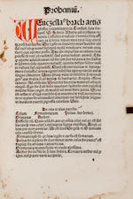 BRACK, WENCESLAUS. Vocabularius rerum. Strasbourg: Printer of Jordanus de Quedlinburg, December 22, 1495.