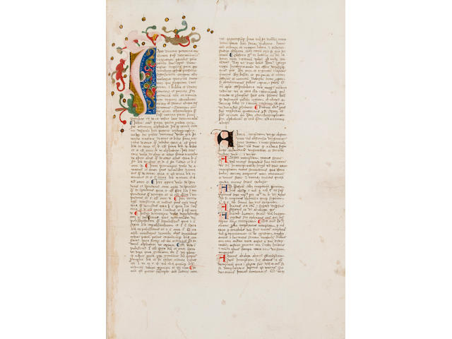 BALBI, GIOVANNI. ?-c.1298. Latin manuscript on paper, Catholicon. [Northeast Italy, c.1400.]