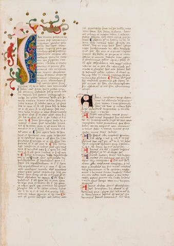 BALBI, GIOVANNI. ?-c.1298. Latin manuscript on paper, Catholicon. [Northeast Italy, c.1400.]