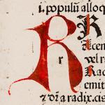 REUCHLIN, JOHANNES. 1455-1522. Vovacbularius breviloquus.  GUARENSIS VERONENSIS. Ars dipthongandi. LAPIDE, JOHANNES DE. De Arte punctandi; De Accentu. Basel: [Johann Amerbach], 1478.<BR />