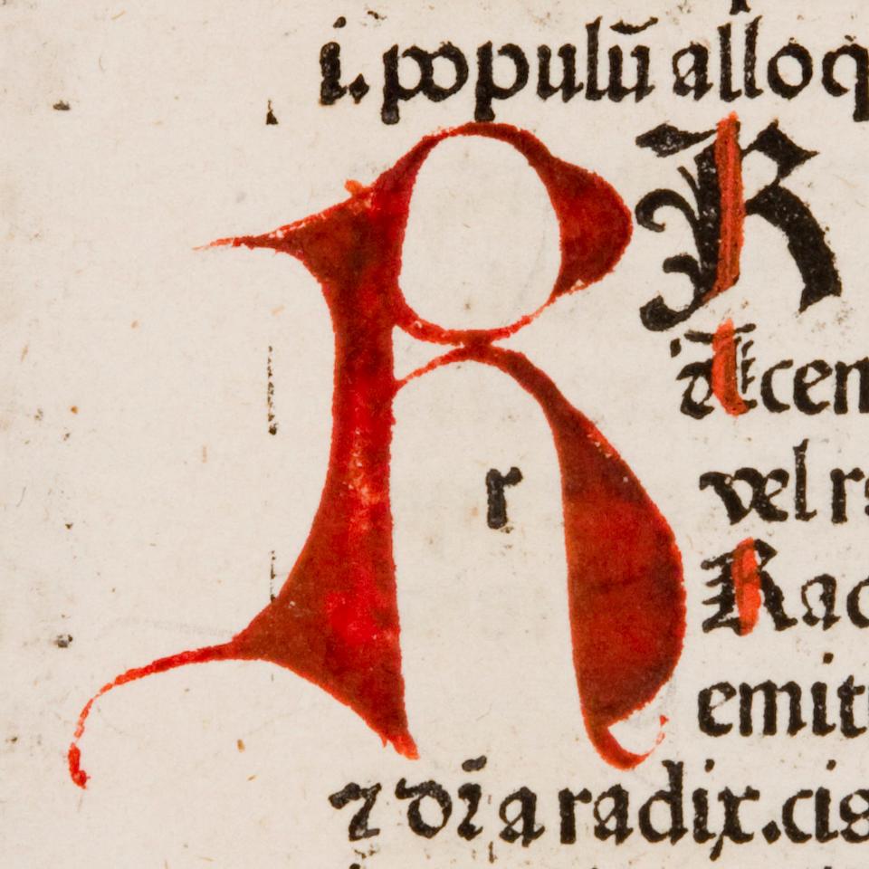 REUCHLIN, JOHANNES. 1455-1522. Vocabularius breviloquus.  Basel: [Johann Amerbach], 1478.<BR />