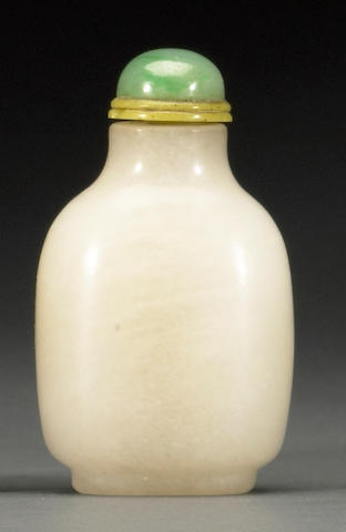 A white jadeite snuff bottle  20th century