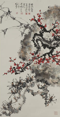 Guan Shanyue (1912-2000), Yang Shanshen (1913-2004), Zhao Shaoang (1905-1998) and Li Xiongcai (1910-2001) Rocks and Plants