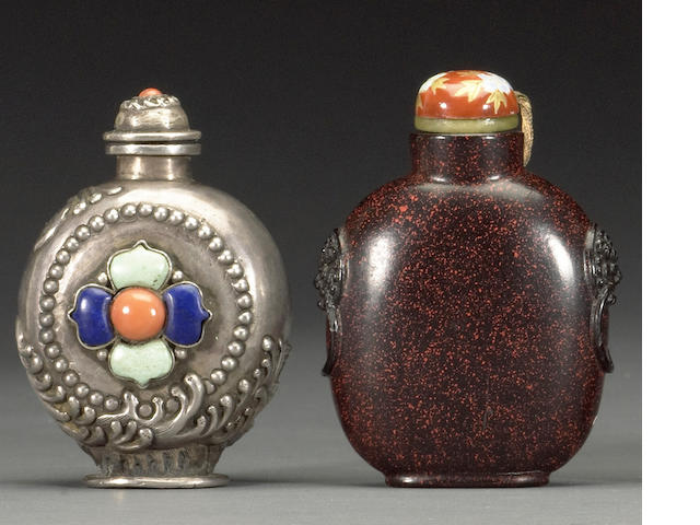 Two snuff bottles  19th century