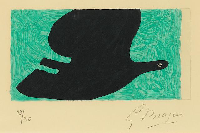 Georges Braque (1882-1963); Pl. 6, from L'Ordre des Oiseaux;