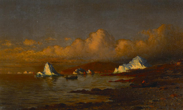 William Bradford (American, 1823-1892) Morning's Silver Light (Coast of Labrador) 12 x 20in