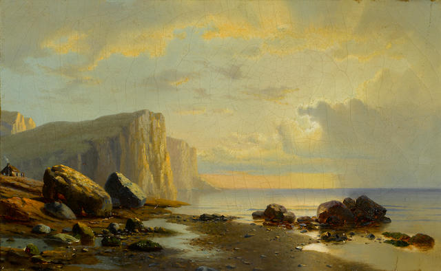 William Bradford (American, 1823-1892) Sunset on the Coast of Labrador 12 x 20in