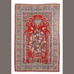 An Isphahan prayer rug size approximately 4ft. 6in. x 5ft. 9in.