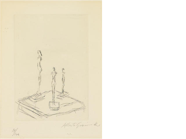 Alberto Giacometti (1901-1966); Three Figurines;