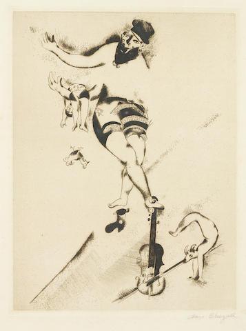Marc Chagall (1887-1985); L'acrobat au violon;