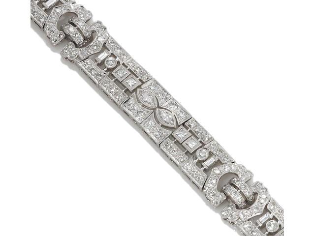 Diamond bracelet, 8.85 cts