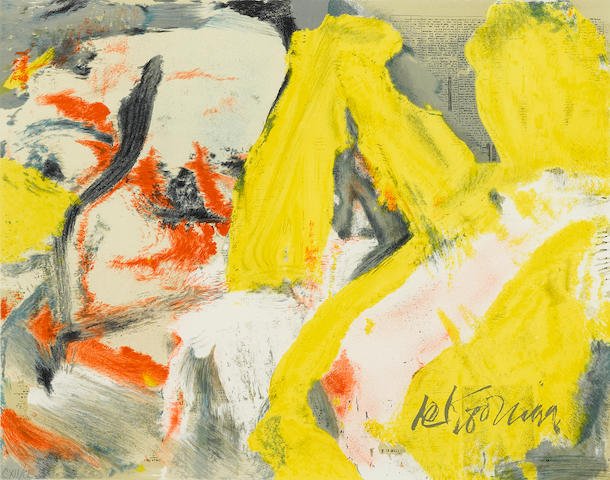 Willem de Kooning (1904-1997); The Man and The Big Blonde;