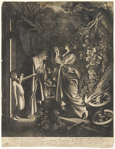 Hendrik Goudt (Utrecht 1583-1648); Ceres seeking her Daughter (B 5);