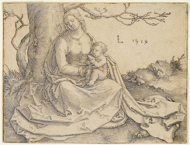 Lucas van Leyden (Dutch, 1494-1533); Virgin and Child Seated Under a Tree;