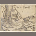 Lucas van  Leyden; Virgin and Child seated under a Tree (B Holl. 83) ;