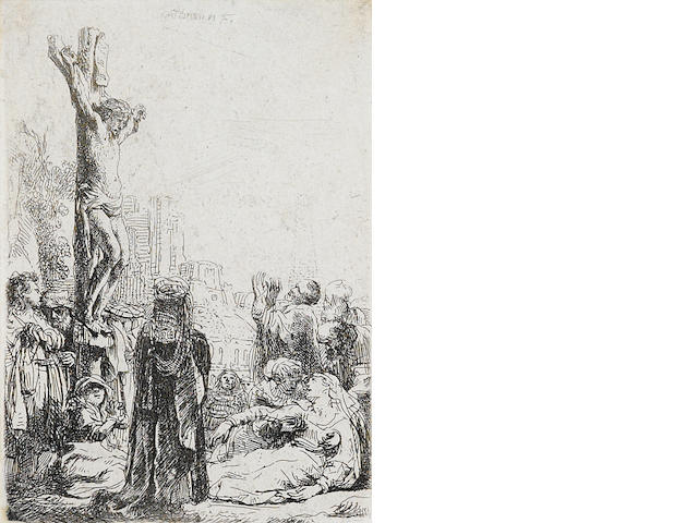 Rembrandt Harmensz van Rijn (Dutch, 1606-1669) The Crucifixion (B. Holl 80)
