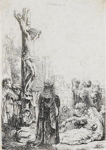 Rembrandt Harmensz van Rijn (Dutch, 1606-1669) The Crucifixion (B. Holl 80)