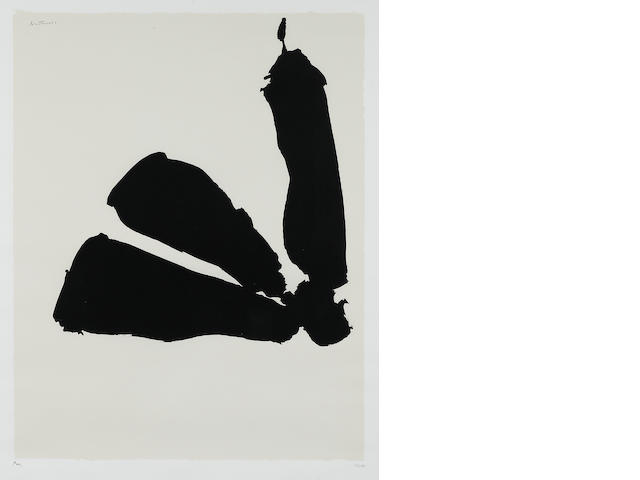Robert Motherwell,Africa #8, 1970 color print, monogrammed in pencil lower left and numbered lower right 41/50