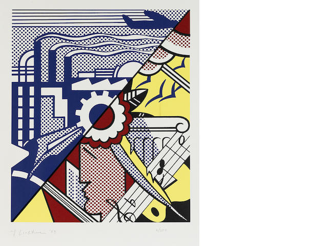 Roy Lichtenstein (1923-1997); Industry and the Arts II;
