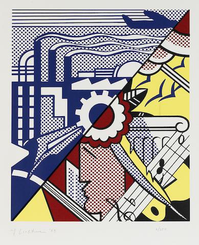 Roy Lichtenstein (1923-1997); Industry and the Arts II;