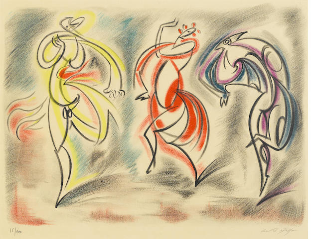 Andre Masson, Two lithographs in color