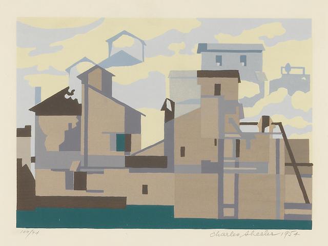 Charles  Sheeler (1883-1965); Architectural Cadence;