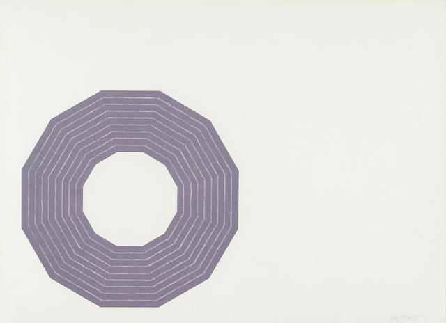 Frank Stella (born 1936); Kay Bearman, from Purple Series;