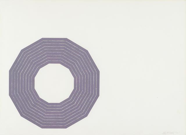 Frank Stella (born 1936); Kay Bearman, from Purple Series;