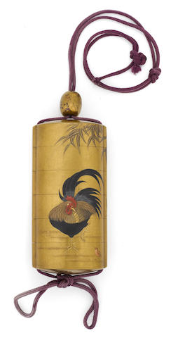 A five-case lacquer inro<BR />Edo period (19th century)