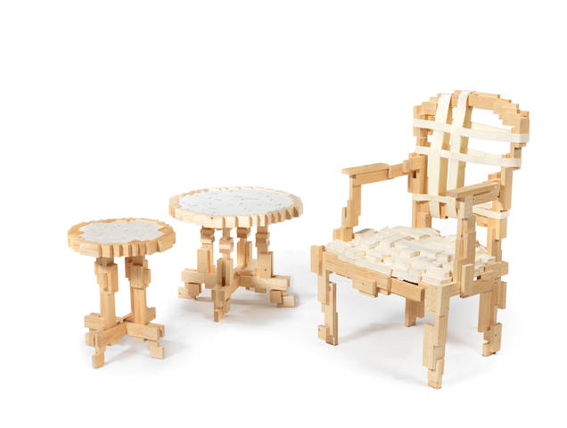 Jurgen Bey Cat Nr 4  1 x Pixelated chairs