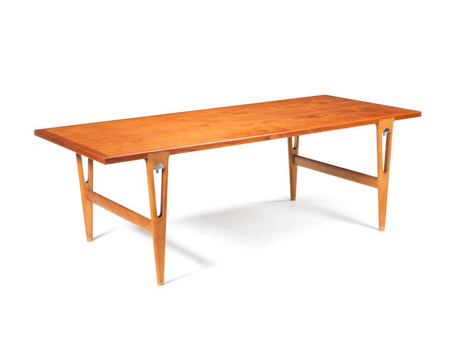 A wooden table Hans Wegner c 1950 retailed by Johannes Hansen
