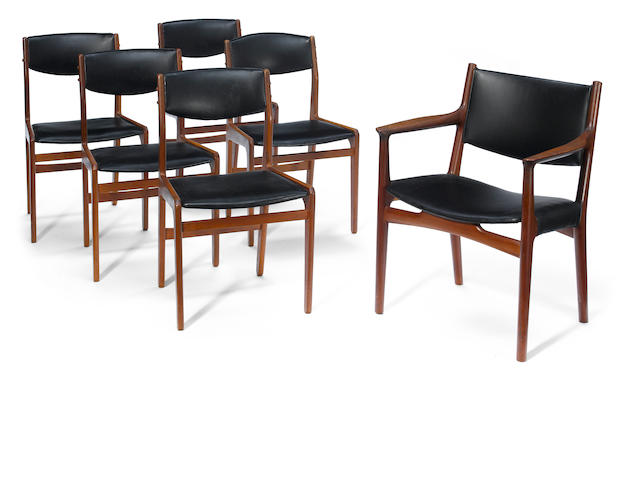 A set of six Hans Wegner chairs