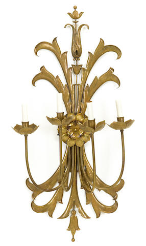 A Hans Grag brass four-light wall sconce 1960s