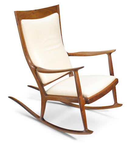 Sam Maloof (American, 1916-2009) Rocking chair, 1976