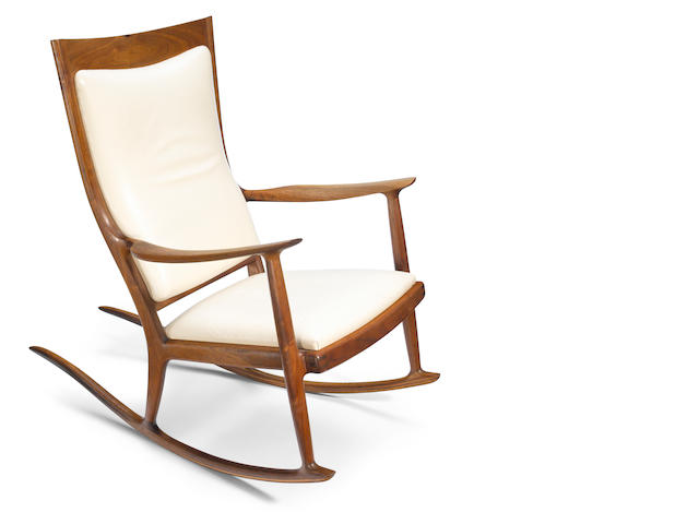 Sam Maloof (American, 1916-2009) Rocking chair, 1976