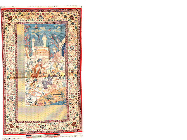 An Isphahan rug  South Central Persia size approximately 3ft. 4in. x 5ft. 5in.