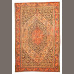 A Senneh rug Central Persia size approximately 4ft. 4in. x 6ft. 6in.