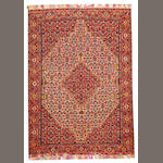 A Senneh rug Central Persia size approximately 4ft. 5in. x 6ft. 3in.
