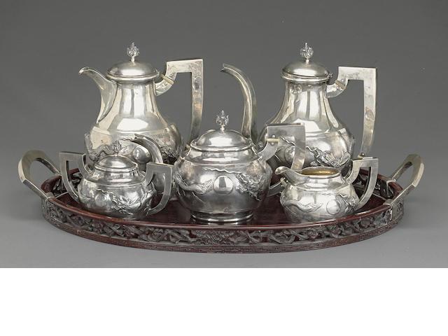 A five-piece export silver tea and coffee service Republic period