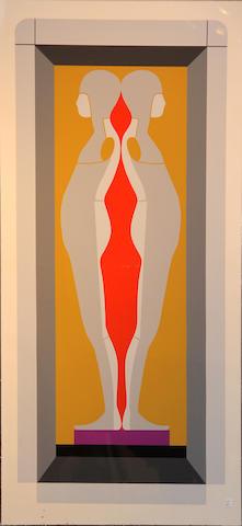 Ernest Tino Trova (American, 1927-2009); Four Foot Falling Man;