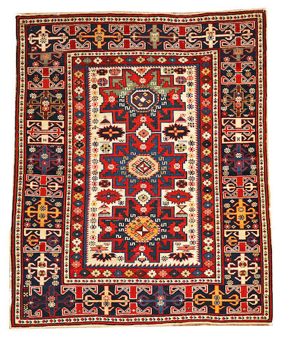 A Shirvan rug Caucasus size approximately 3ft. 10in. x 4ft. 8in.