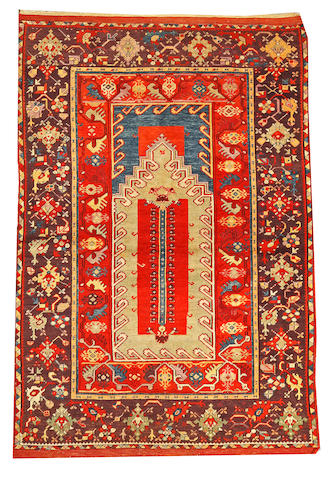A Turkish rug Turkey size approximately 4ft. x 8ft.