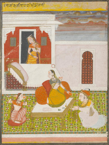 An Indian miniature painting early 19th century 10 x 7 ½in  (partially damaged)