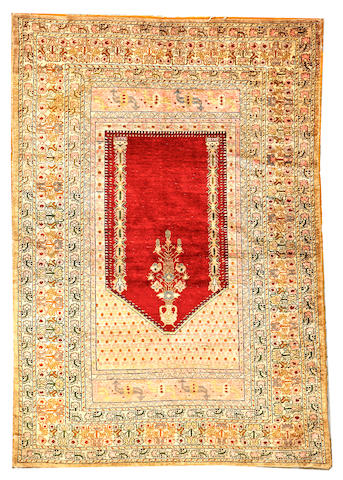 A Turkish silk Kilim Turkey size approximately 4ft. x 5ft. 6in.